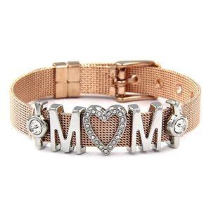 Jewelry - MOM WITH HEART RHINESTONE - SILVER